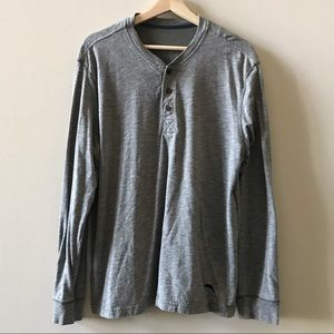 Gray Long-Sleeve Henley